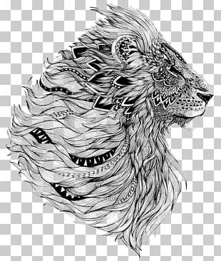 Lion Sleeve Tattoo Flash PNG