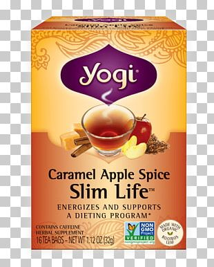 Green Tea Masala Chai Caramel Apple Yogi Tea PNG