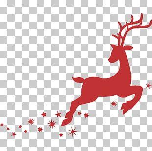 Santa Claus's Reindeer Santa Claus's Reindeer Christmas Bombka PNG