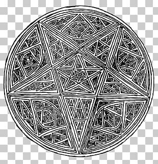 Pentagram Symbol Sacred Geometry Drawing Overlapping Circles Grid PNG