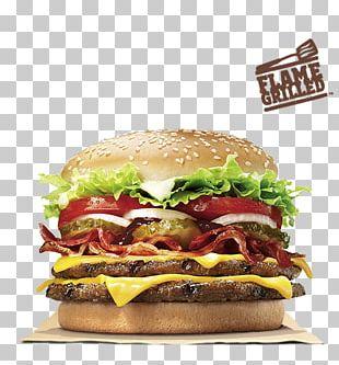 Whopper Hamburger Cheeseburger Bacon Burger King PNG
