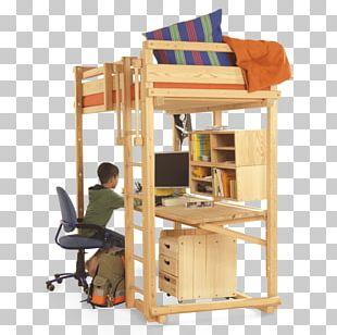 Bunk Bed Furniture Desk Platform Bed PNG