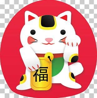 Maneki-neko Cat Luck Desktop PNG