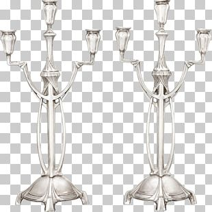 Wine Glass Candlestick Light Lead Glass PNG