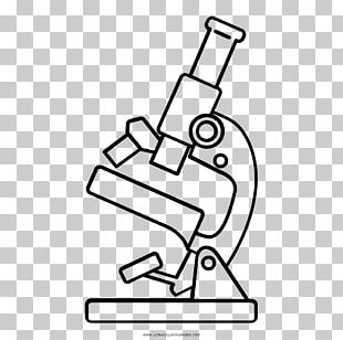 Drawing Microscope Line Art Coloring Book PNG
