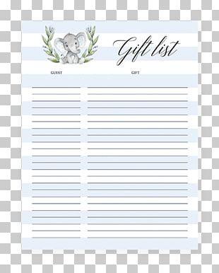 Wedding Invitation Paper Baby Shower Gift Registry Letter PNG