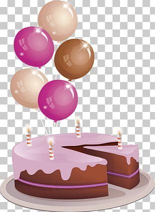 Birthday Cake Chocolate Cake Torte PNG
