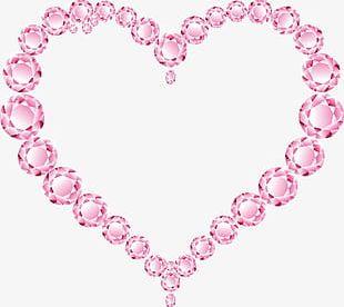 Pink Diamond Heart PNG