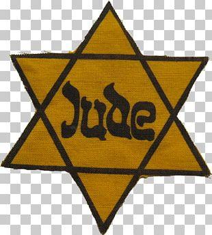 Yellow Badge Star Of David Judaism Jewish People The Holocaust PNG