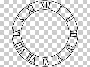 Clock Face Roman Numerals Drawing PNG