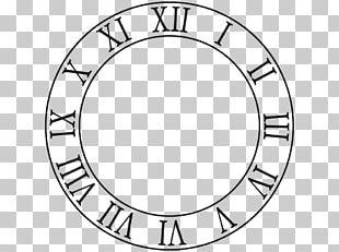 Clock Face Roman Numerals Drawing PNG