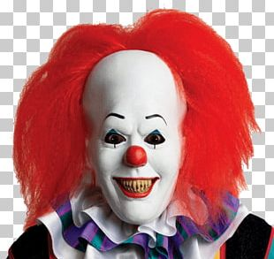 Red Hair Scary Clown Halloween PNG