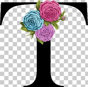 Garden Roses Letter Alphabet Initial Monogram PNG