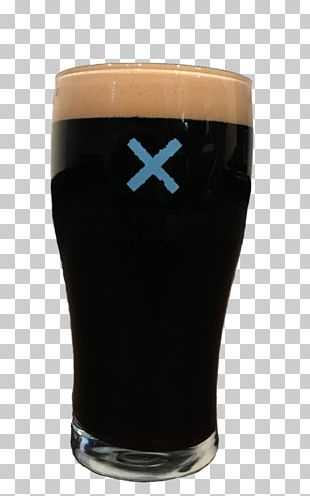 Stout Pint Glass Cobalt Blue PNG