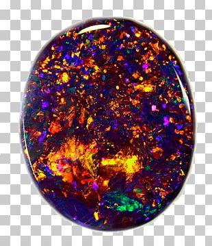 Lightning Ridge Opal Gemstone ブラック・オパール Metal-coated Crystal PNG