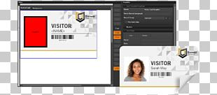 Visitor Management Template Name Tag Computer Software Identity Document PNG