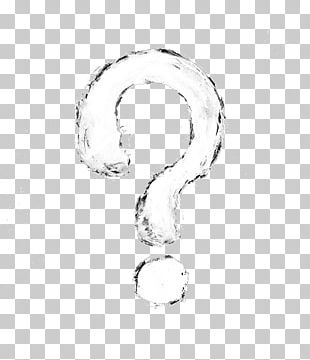 Black And White Question Mark PNG