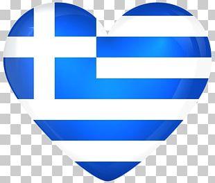 Flag Of Greece Heart National Flag PNG