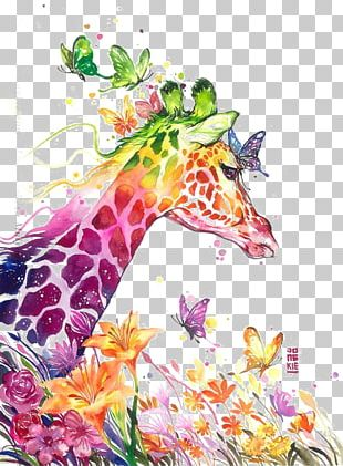 Watercolor Painting Giraffe Visual Arts Drawing PNG