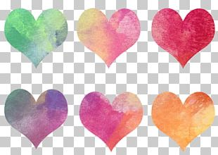 Hearts Coloured Collection PNG