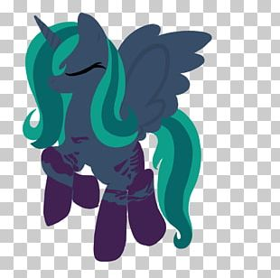 Horse Graphic Design Teal PNG