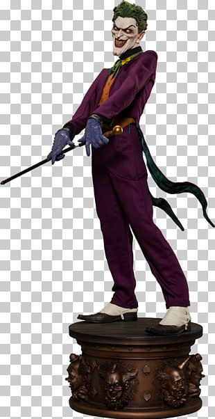 Joker Batman Sideshow Collectibles DC Comics Statue PNG