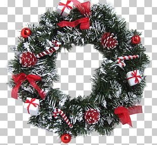 Wreath Garland Christmas Lights Holiday PNG