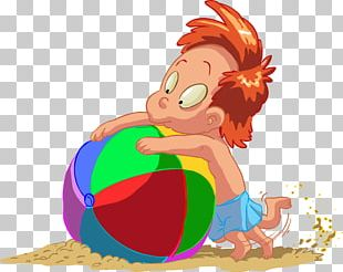 Cartoon Beach Child PNG