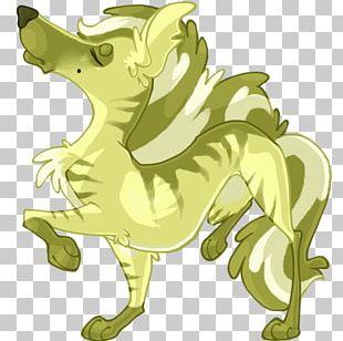 Striped Hyena Pixel Art Sprite PNG
