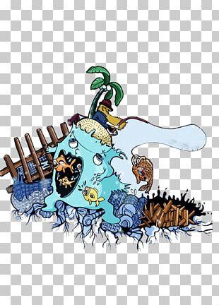 Cartoon Sea Wind Wave Illustration PNG