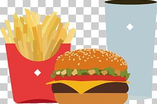 Junk Food Fast Food Hamburger Fried Chicken French Fries PNG