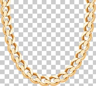 Necklace Chain Gold Earring PNG