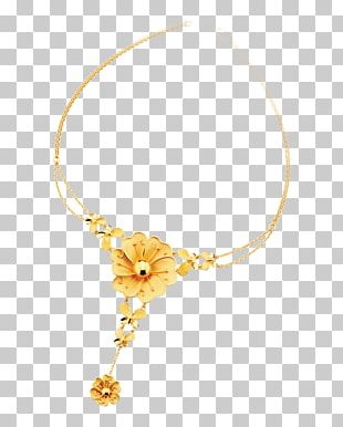 Yellow Necklace Body Piercing Jewellery Pattern PNG