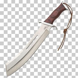 Bowie Knife Machete Blade Hunting & Survival Knives PNG