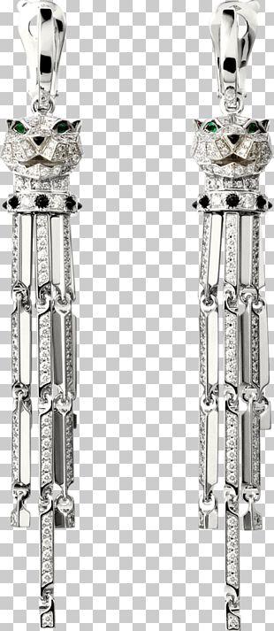 Earring Cartier Leopard Diamond Brilliant PNG
