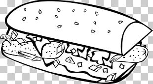 Junk Food Fast Food Food Coloring Coloring Book PNG