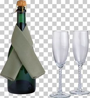 Red Wine Champagne Bottle Glass PNG