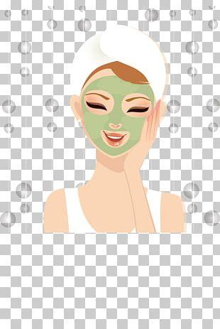 Cartoon Beauty Facial PNG