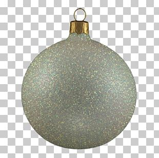 Christmas Ornament Gold White PNG