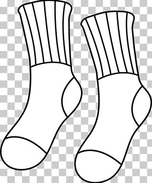 Sock Black And White PNG