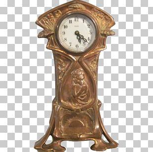 Mantel Clock Art Nouveau Fireplace Mantel PNG