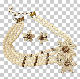 Pearl Earring Necklace Bracelet Body Jewellery PNG