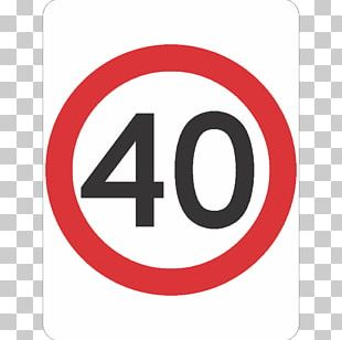 Traffic Sign Speed Limit 40 Ahead School Zone PNG
