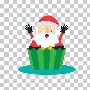Santa Claus Christmas Cake Cupcake Christmas Ornament PNG