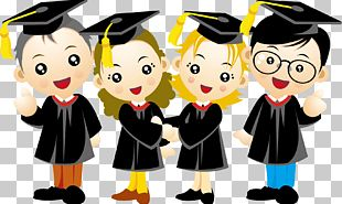 Graduation Ceremony Cartoon PNG