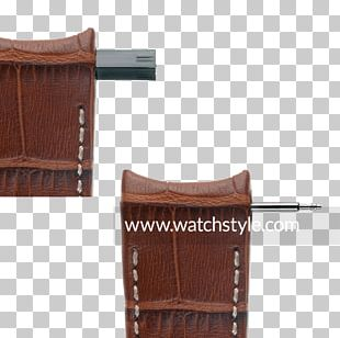 Leather Watch Strap Gold PNG