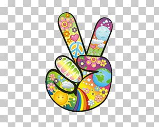 1960s Peace Symbols Hippie Flower Power PNG