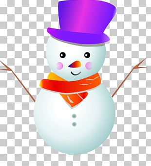 Snowman Cartoon Christmas PNG