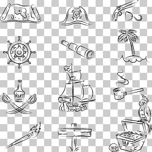 Piracy Treasure Map Jolly Roger Illustration PNG