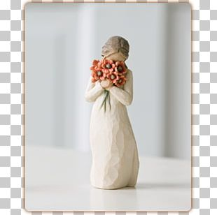 Willow Tree Figurine Love Flower PNG